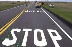 AAA Striping Cold Plastic Message 01